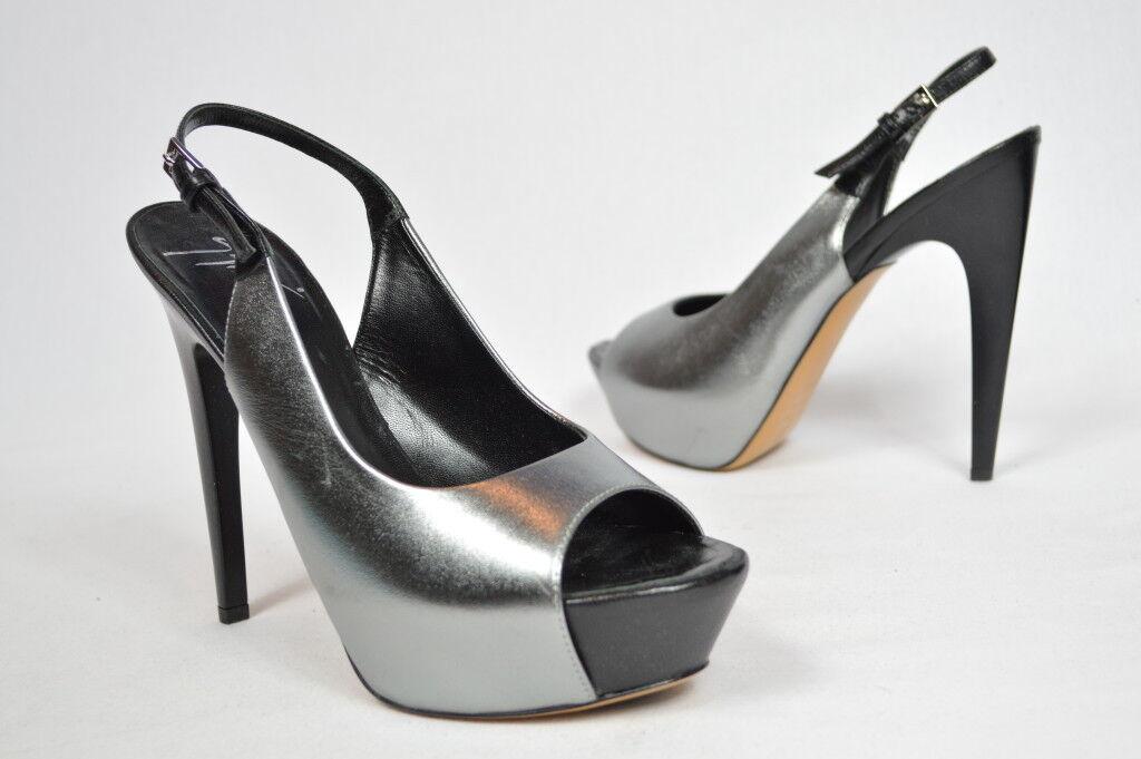 Giuseppe Zanotti chaussures Hidden Platform Heels slingbacks 5.5  heel argent 38.5