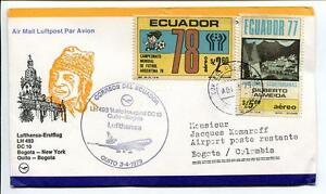 à Condition De Ffc 1979 Lufthansa Primo Volo Lh 493 Dc-10 - Bogotà New York Usa Quito Colombia