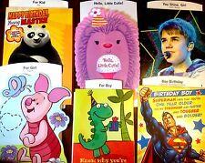 KIDS CLOSEOUT BIRTHDAY  BOY GIRL TEEN BIRTHDAY CARD by HALLMARK LOT OF 6 W/ENV