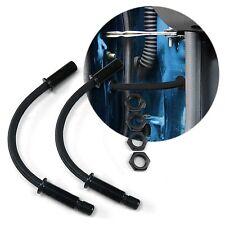 Black Braided Steel Door Loom PAIR 12v wiring power window 1/2 inch