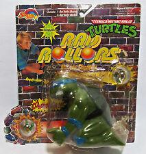 Vintage 1990 TMNT Teenage Mutant Ninja Turtles RAD ROLLORS Leonardo Figure MOC