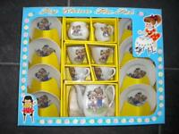 Vintage Toy China Tea Set Boy & Girl In Original Box Japan