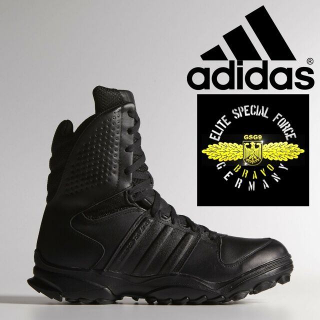 099bcbf54075a6 adidas GSG 9.2 Combat Boots Military SWAT German Police Shoes Black Leather