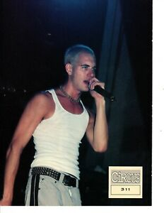 Young-NICK-HEXUM-311-MAGAZINE-PINUP-PAGE-vtg-1990s-Tank-Top-Short-Blonde-Hair