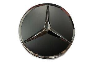 Original-Mercedes-Benz-Jantes-en-Alliage-Couverture-Enjoliveur-Etoile-Noir-Mat