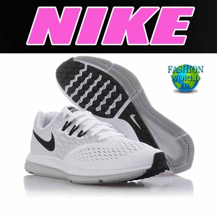 Nike Women's Size 9.5 Zoom Winflo 4 Running Shoes 898485 100 White/Black/Grey