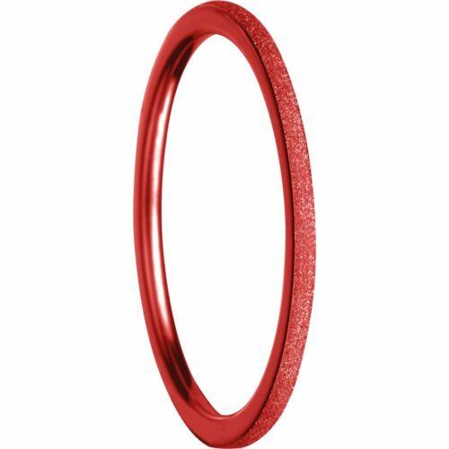Bering Stapelring ultra schmal 1,25mm Edelstahl Sparkling Effekt rot 561-49-X0