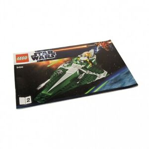 1x LEGO Building Clone Star Wars Saesee Tiin's Jedi Starfighter 9498 Booklet 2