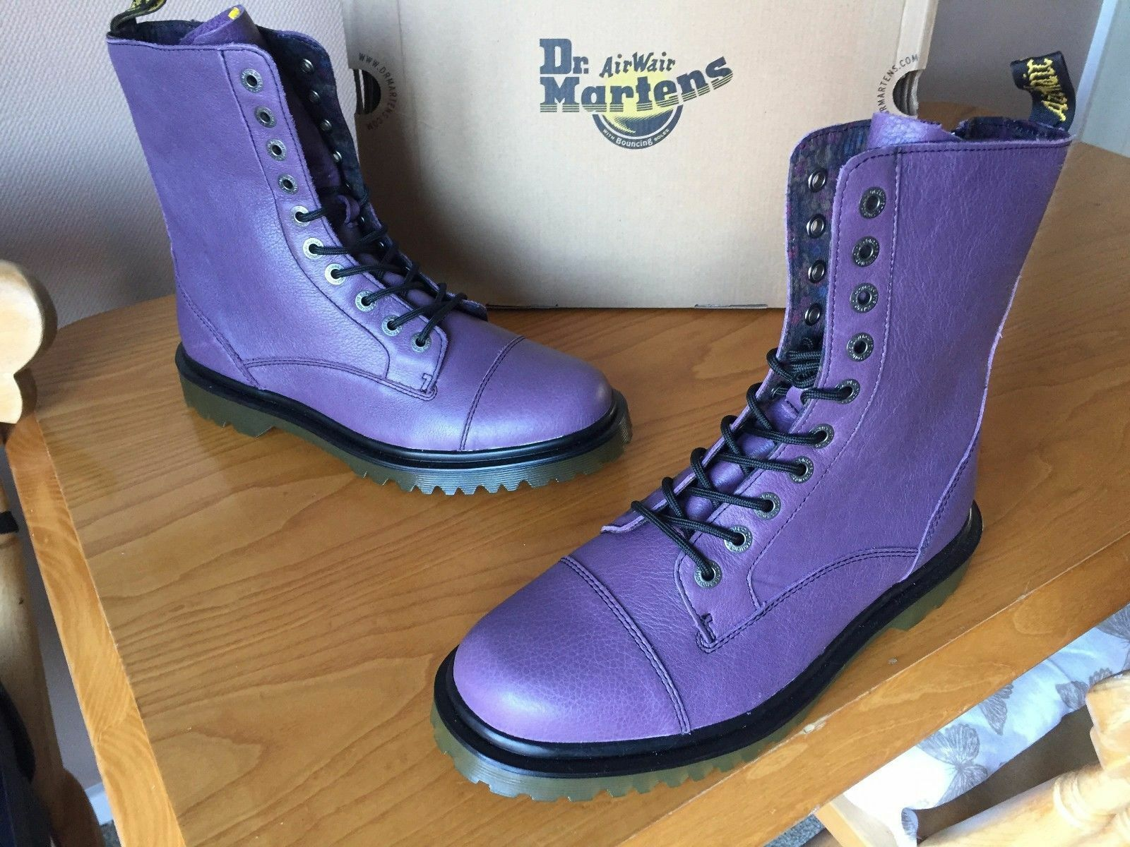Dr Martens purple Justyna purplec leather boots UK 9 EU 43