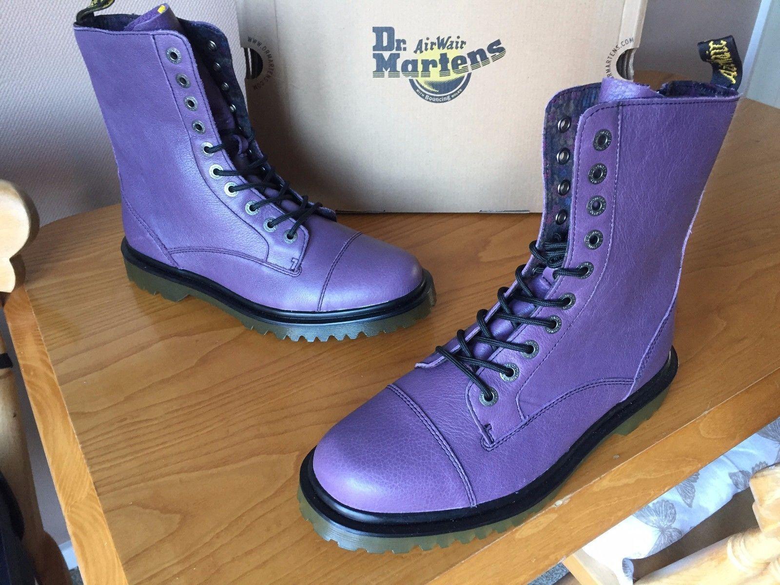Dr Martens lila Justyna lilac leather Stiefel UK 9 EU 43