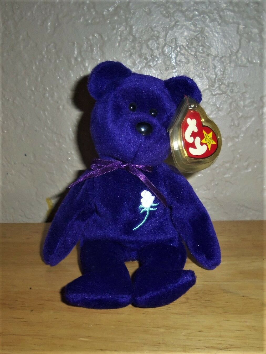 Rare Mint 1st Edition 1997 Princess Diana Ty Beanie Baby PVC No Space MUSEUM