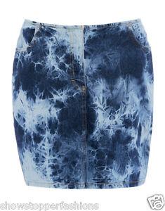 Size-8-10-12-14-NEW-Ladies-SKIRT-DENIM-Stretch-Mini-Skirt-Womens-Short