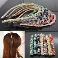 Women Retro Rhinestone Crystal Headband Barrette Accessories Hairpin Hair clip