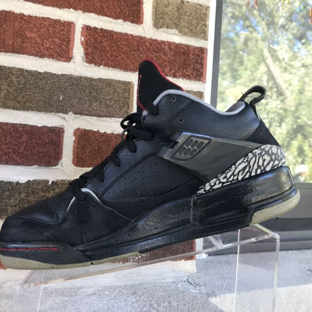 sélection premium 2bbce c4ebf 09 Nike Air Jordan FLIGHT 45 III 3 BLACK FIRE RED CEMENT GREY 364756 061 Sz  10