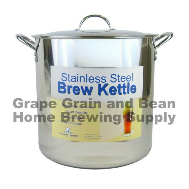 42qt Polar Ware Brewing Pot, Stainless Steel Economy Brew Kettle, Brew Stock Pot