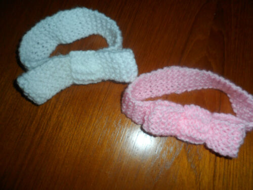 Hand knitted baby girl headband Choice of colours