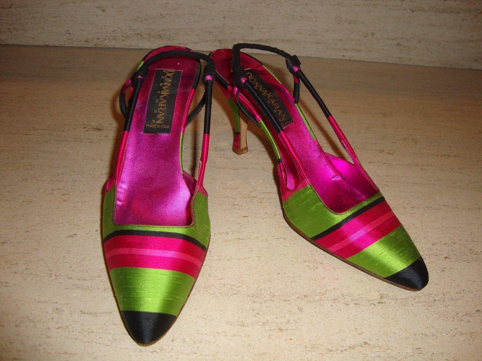 Precioso Nuevo Super Raro mujer Karan Seda Zapatos Tacones Tacones Tacones  precio razonable
