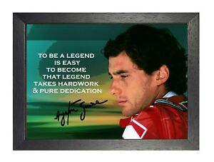 Details About Ayrton Senna 8 Print Motivation Quote Picture Formula 1 Racing Cars Retro Poster
