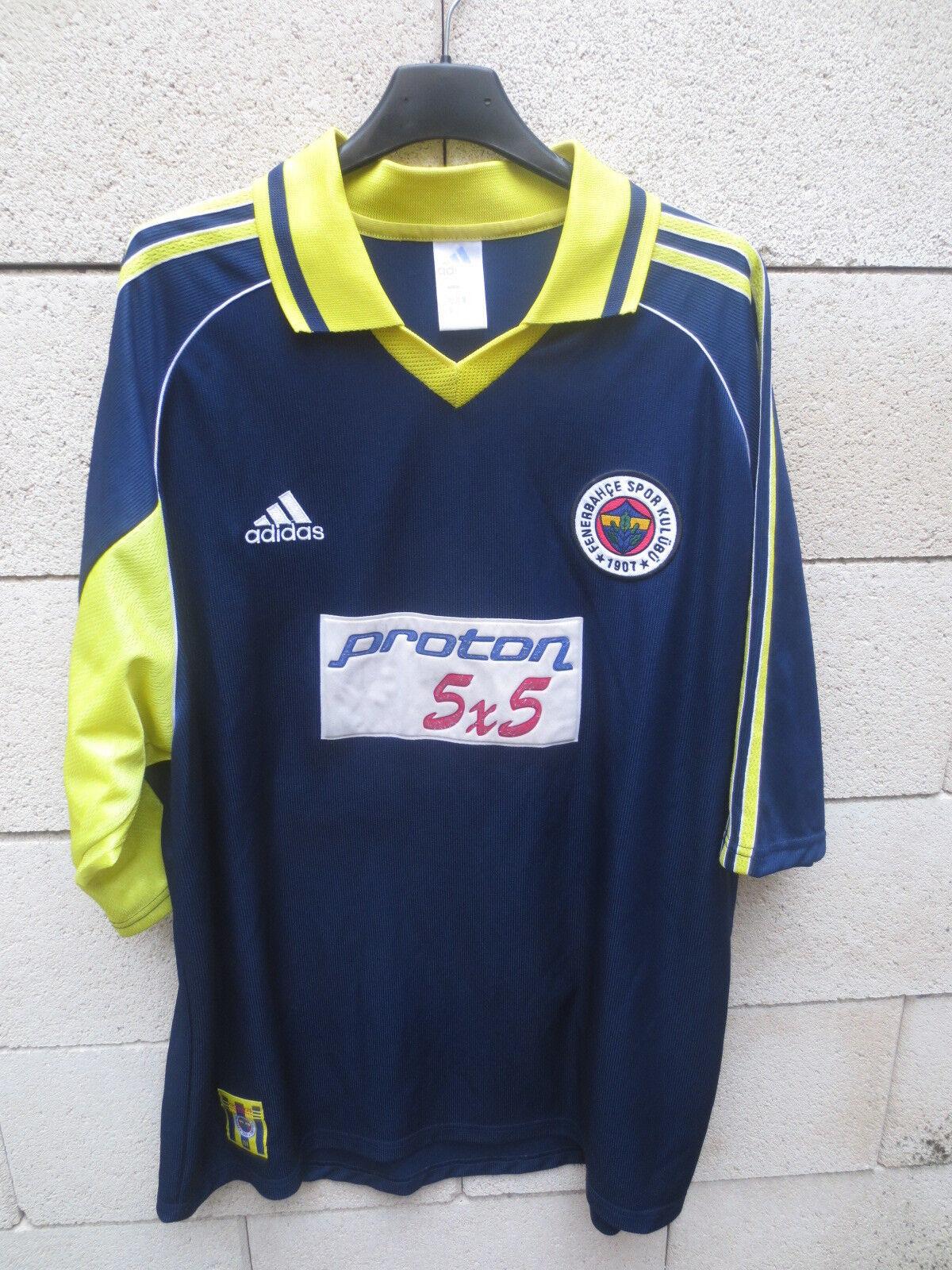 fe4c922b VINTAGE Maillot FENERBAHCE ADIDAS away football shirt trikot XL 2000 ...