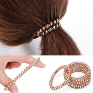 Elastic-Rubber-Telephone-Wire-Hair-Rope-Hair-Band-Ponytail-Holder-Hairband-TB
