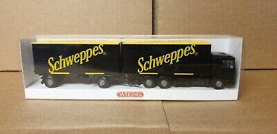 Wiking 1//87 Nr 573 03 36 MAN Hängerzug Wechselkoffer Schweppes OVP #3603
