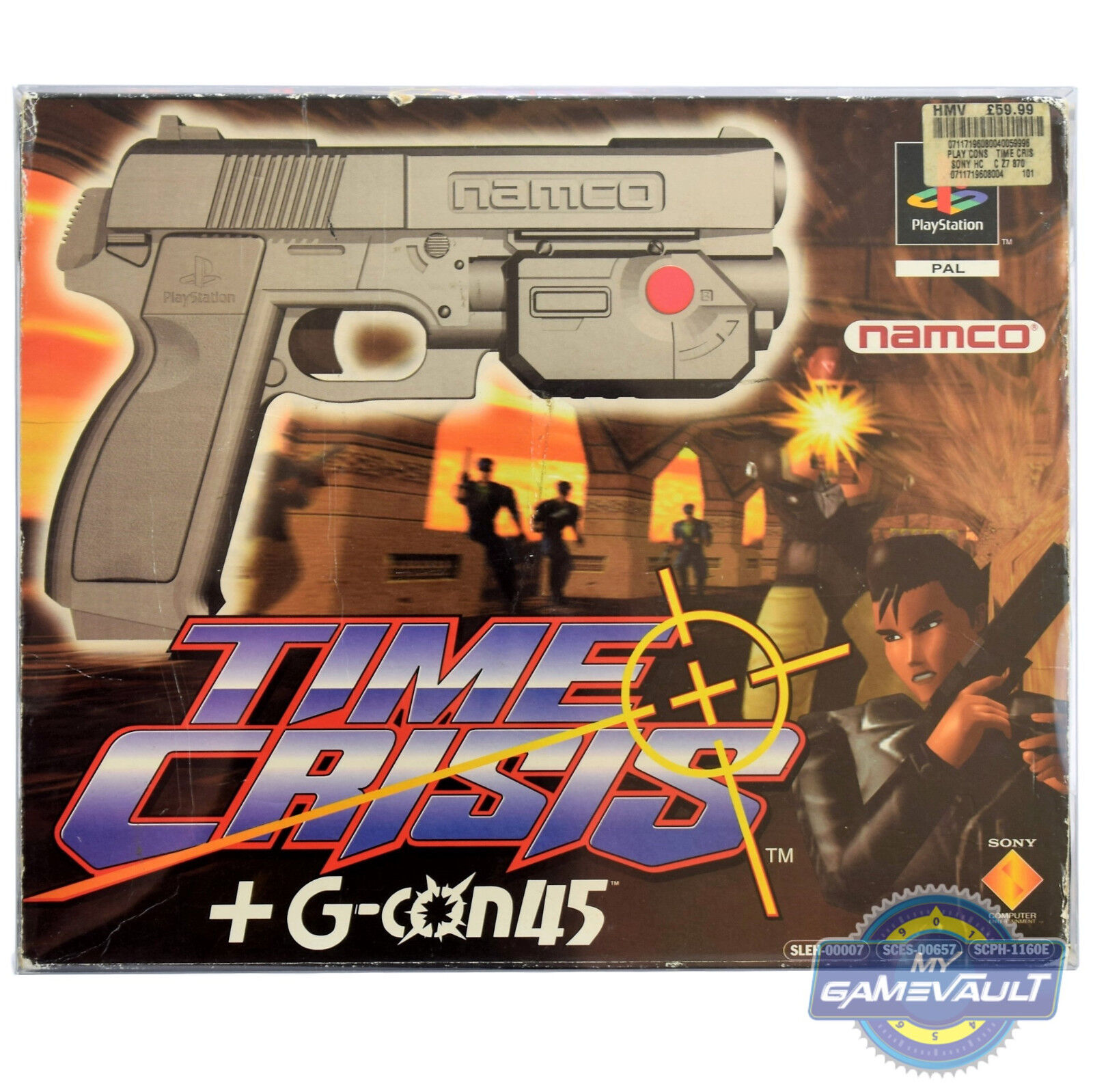 1 x PS1 Game BOX PROTECTOR for Time Crisis Gun & Game 0.5mm PLASTIC DISPLAY CASE