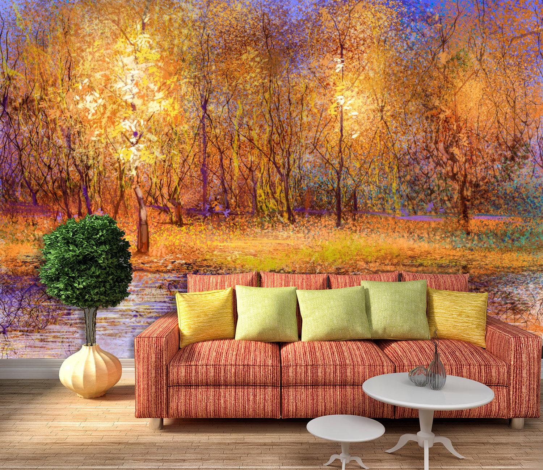 3D Forest Pianted 59 Wallpaper Murals Wall Print Wallpaper Mural AJ WALLPAPER UK