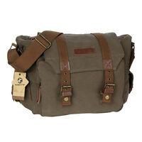 Vintage Canvas Dslr Camera Bag Case Rucksack Backpack Men's Messenger Shopper