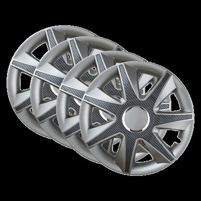 "4x 15/"" Wheel Trims Hub Caps 15 Inch Wheel Cover Trim GLOSS Plastic Trim RUN S//B"