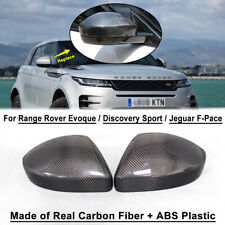 Carbon Fiber Rearview Mirror Frame for Range Rover Evoque Jaguar F pace 2016-18