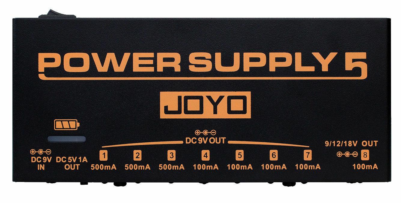 Joyo JP-05 Netzteil 5 Rechargeable 8 Outputs 9v 12v 18v USB Neu