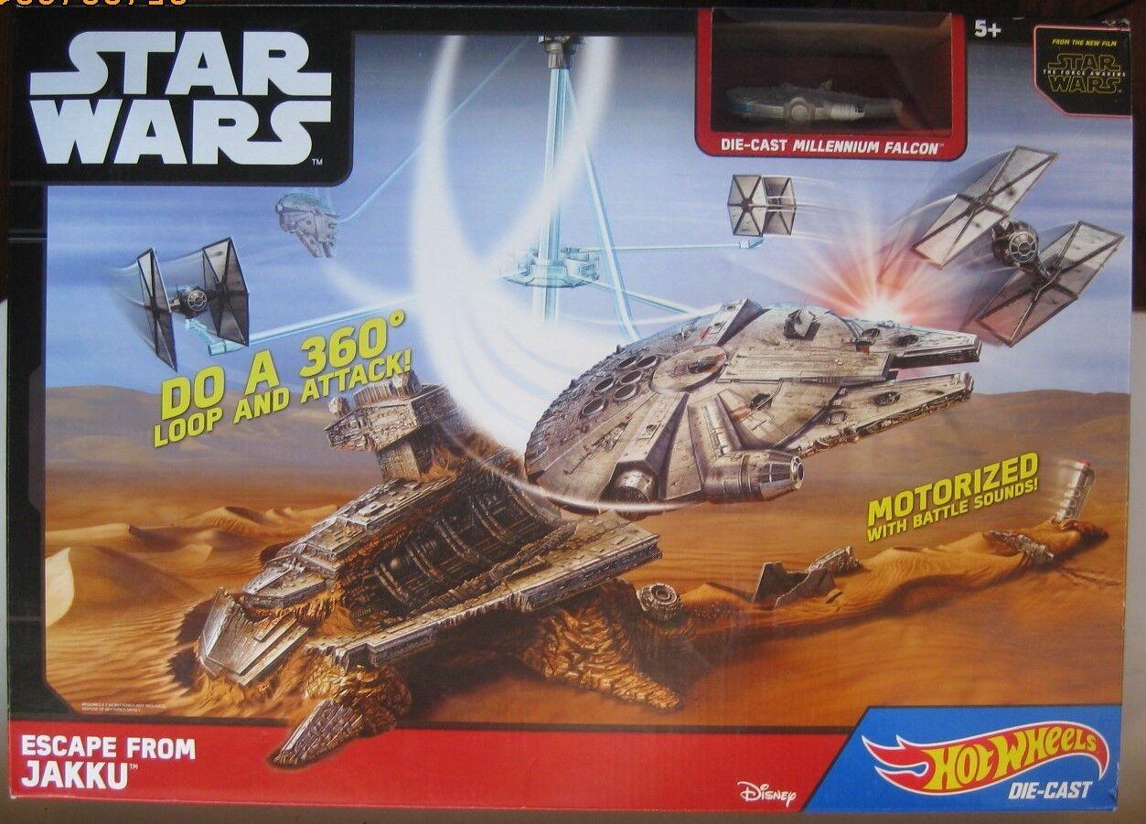 Star Wars Force Awakens Hot Wheels Escape from Jakku Die-Cast Millennium Falcon