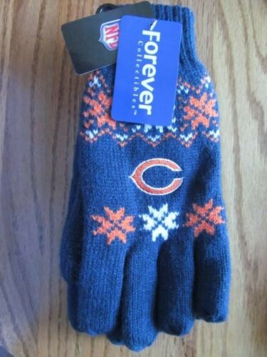 CHICAGO BEARS Women/'s Knit GLOVES~BEAR logo~NEW w//tags