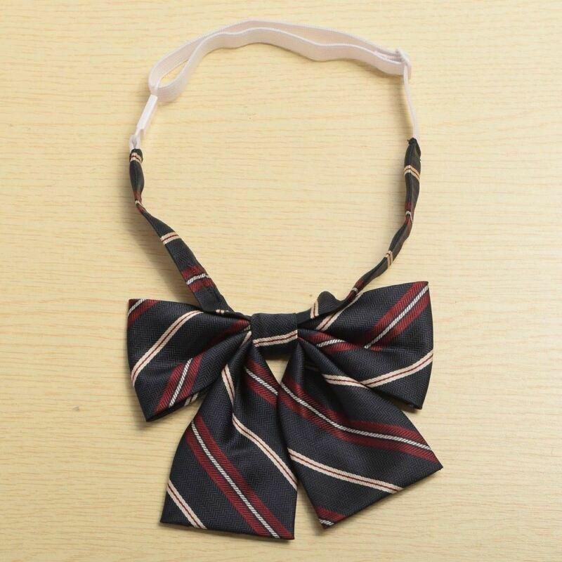 1pc Unisex Preppy Striped Bow Tie Necktie Japanese JK Uniform Accessory