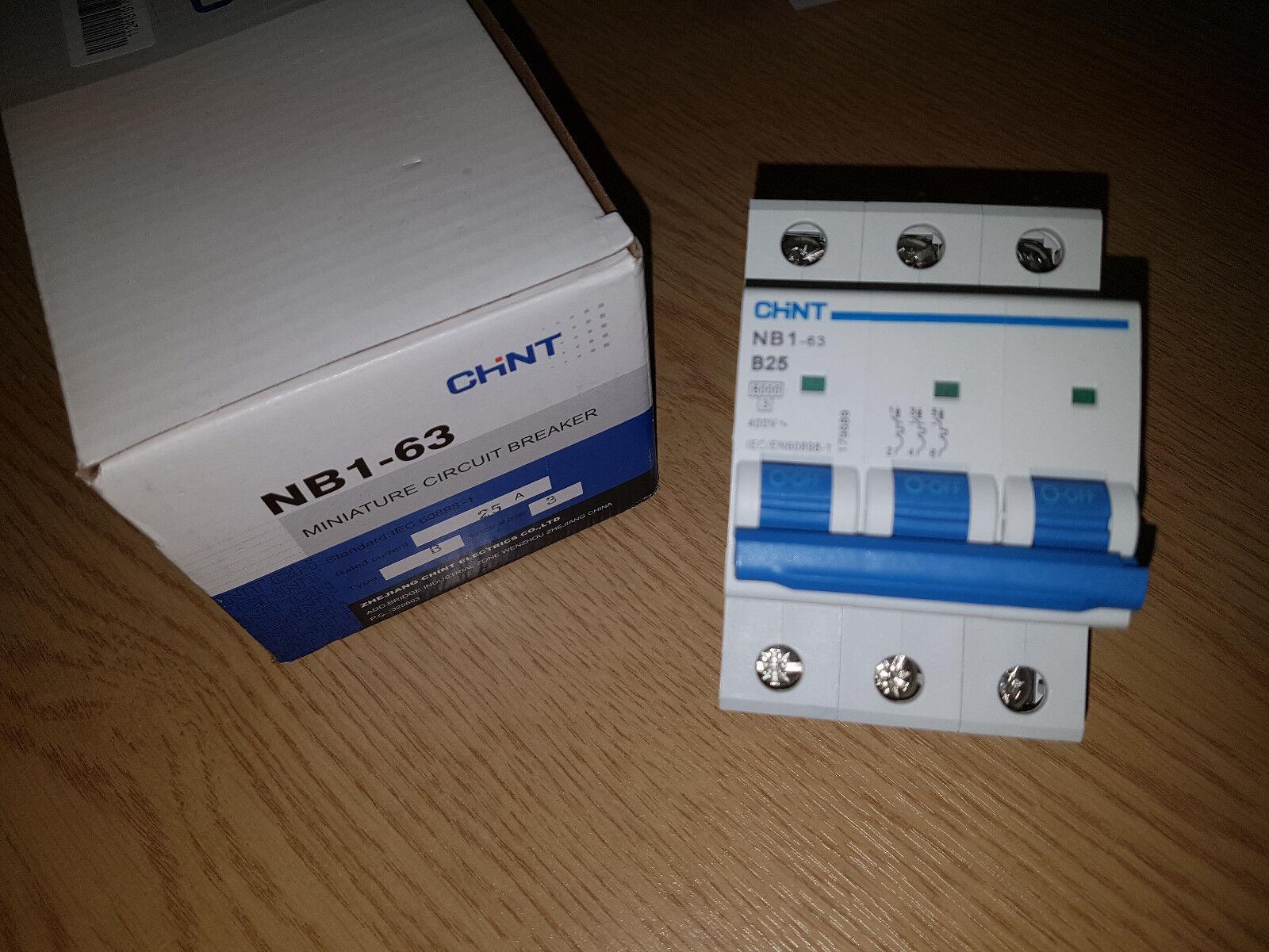 Chint Mcb Type C Three Pole 20 Amp Miniture Circuit Breaker Ebay Miniature Norton Secured Powered By Verisign