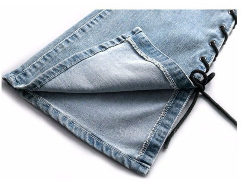 Womens High Waist Flare Bell Bottom Denim Pants Bootcut Jeans Stretch Slim Pants