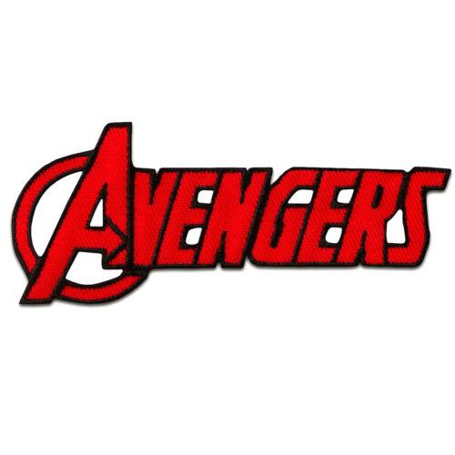 9,5x4cm Ecusson AVENGERS Logo comique enfants rouge patches