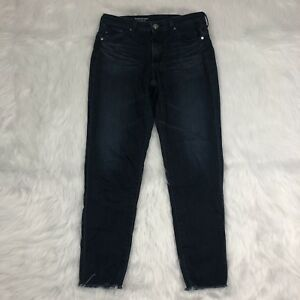 AG-Adriano-Goldschmied-The-Stevie-Ankle-Jeans-Size-26-R-Dark-Slim-Straight-Ankle