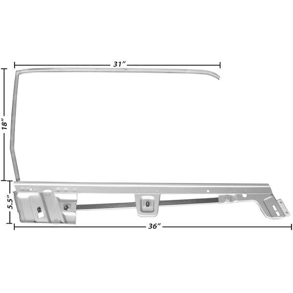 1967-1968 Ford Mustang Convertible Dynacorn Door Window Frame Kit RH ...