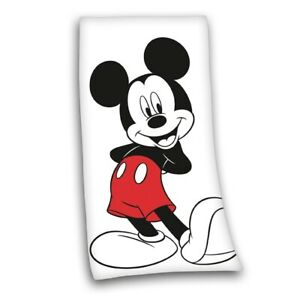 Badetuch-Mickey-Mouse-weiss-75-x-150-cm