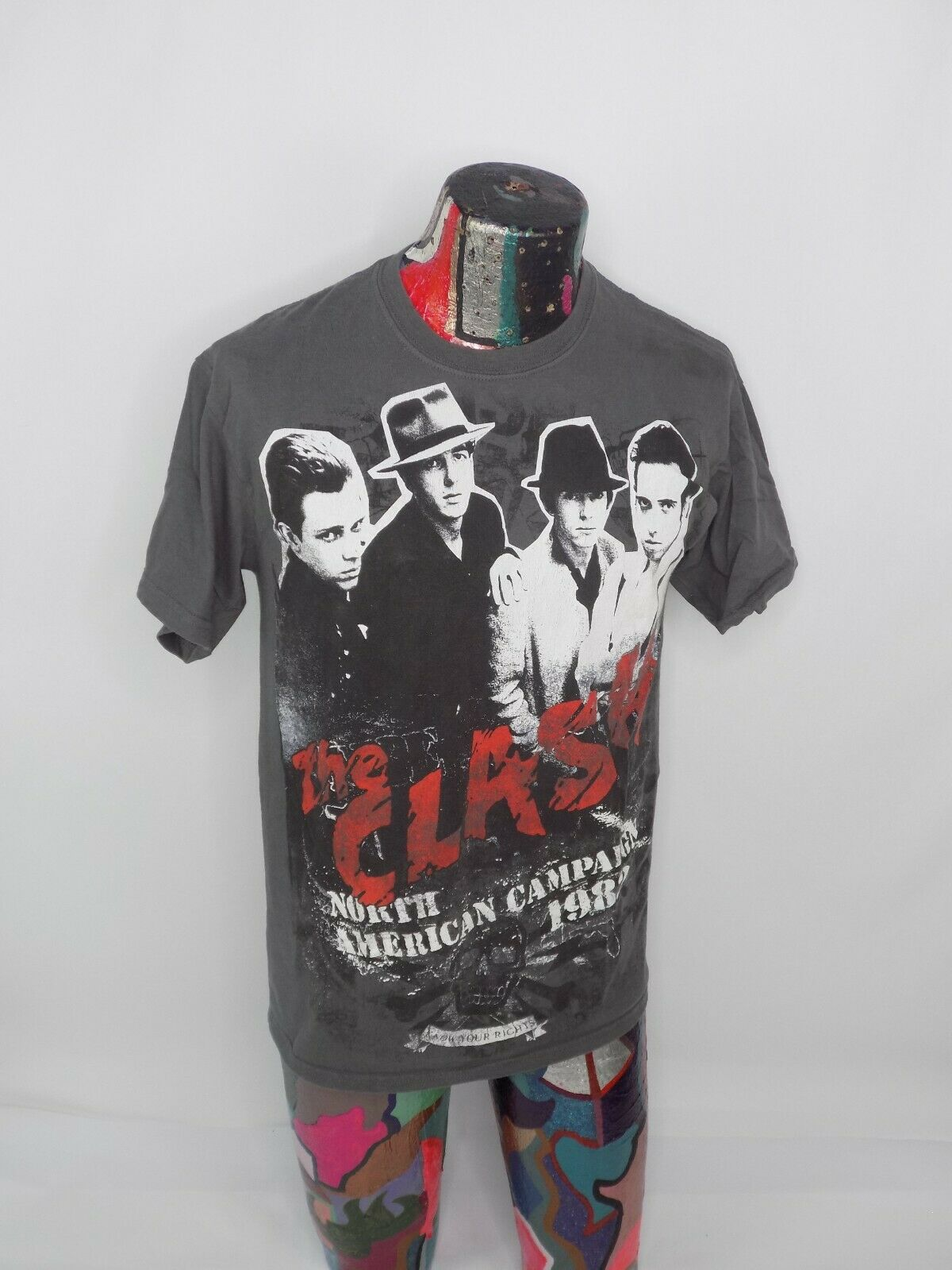 The Clash North American Campaign 1982 T Shirt Me… - image 3