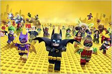 Bonus WonderCon 2013 EXCL Batman The Movie LEGO Poster print signed x 6 RARE!