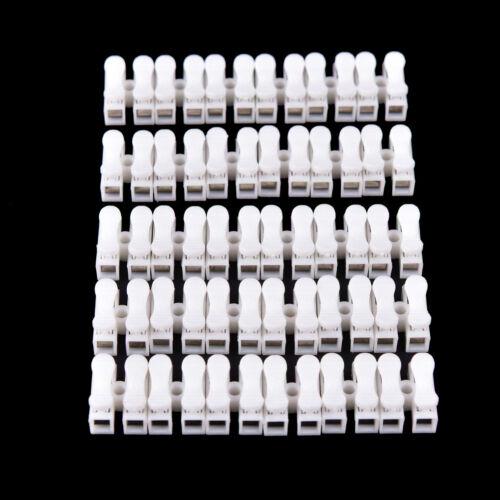 30pcs Self Locking mini 2Pin Cable Connectors Quick Splice Lock Wire Termin FBB