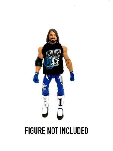 "WWE AJ Styles /'ejecutar el lugar /""Personalizada Camisa para Mattel Figuras.."