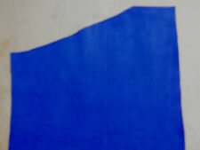 """Bright ROYAL BLUE Suede Cowhide Leather Scraps 8""""x12"""" avg .9mm thick  #5465"""