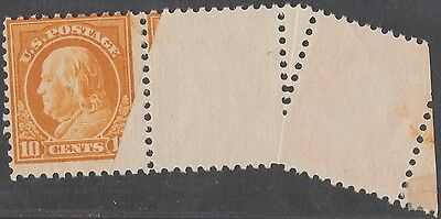 "Hearty #510 Var United States Errors, Freaks, Oddities ""franklin"" Major Foldover Error Pair Dramatic Print On Reverse Hv1360 Elegant In Style"