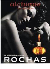 PUBLICITE ADVERTISING  1999  ROCHAS  parfum ALCHIMIE