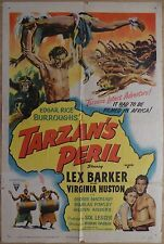 TARZAN'S PERIL (1951) - original US 1 sheet film/movie poster, Lex Barker
