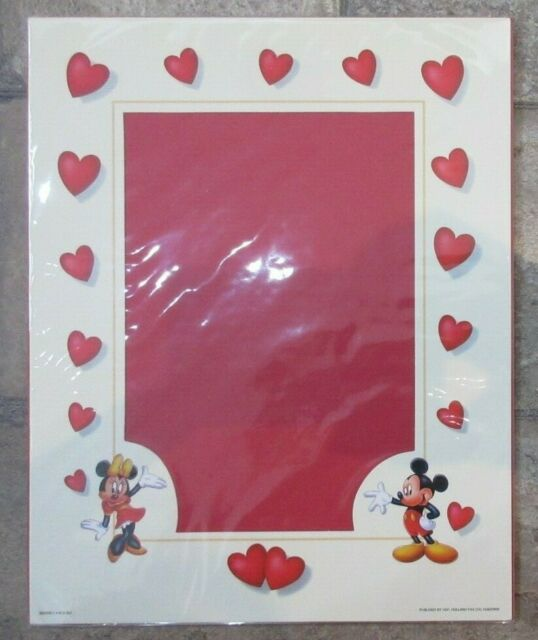 """Clearance Sale - 8""""x10"""" Disney Mickey & Minnie Mouse Paper Mount Photo Picture"""