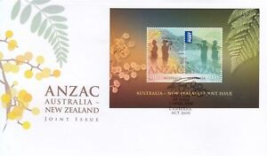 2015-FDC-ANZAC-Australia-New-Zealand-Joint-Issue-M-S-034-Wattle-034-PictFDI-034-CANBERRA